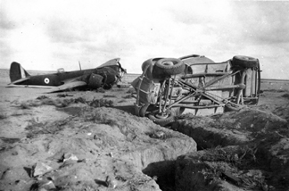 L6660, the CO's car and a slit trench Quotafiya September 1940