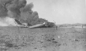 Blenheim accident Wadi Gazouza 1941 41C06