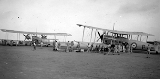 A  & B Flights Depart for Palestine Jul 1938