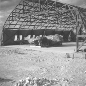 45 Sqdn damaged Bristol Blenheim